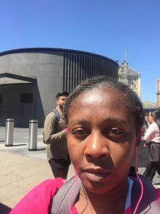 Me at St Pancras Station, Kings Cross, London