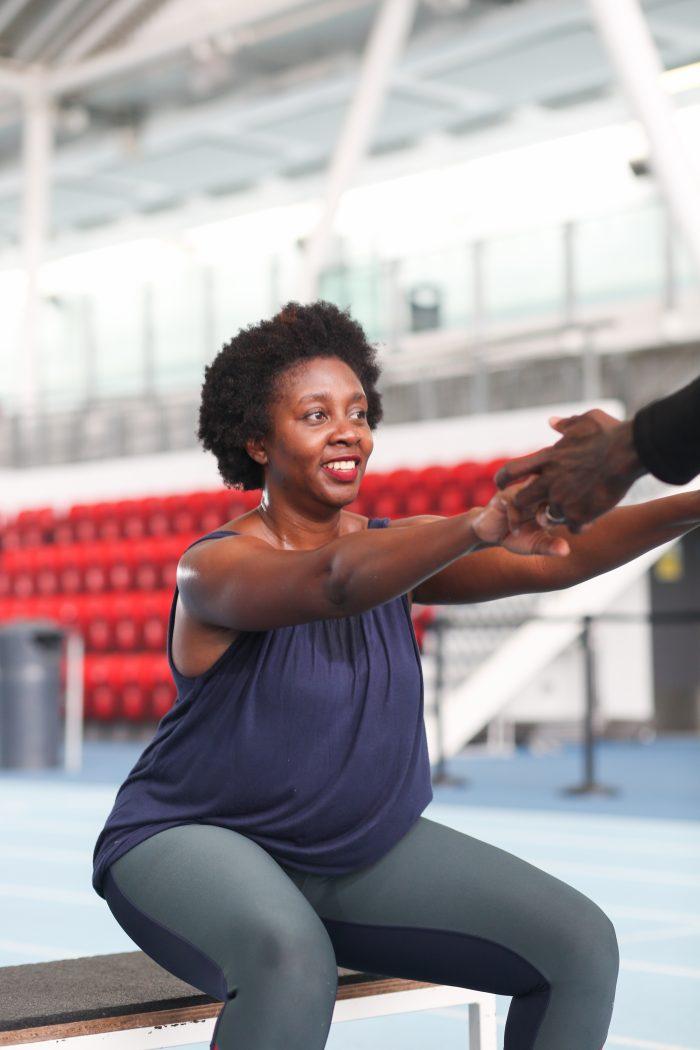 Attempting squats at Lee Valley Athletics
