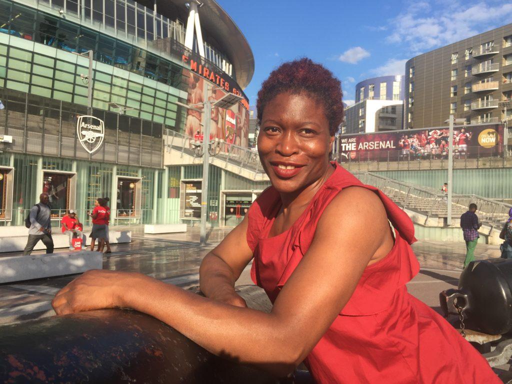 My friend Taiwo at the Emirates Stadium
